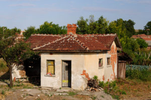 old deserted house in central Bulgaria